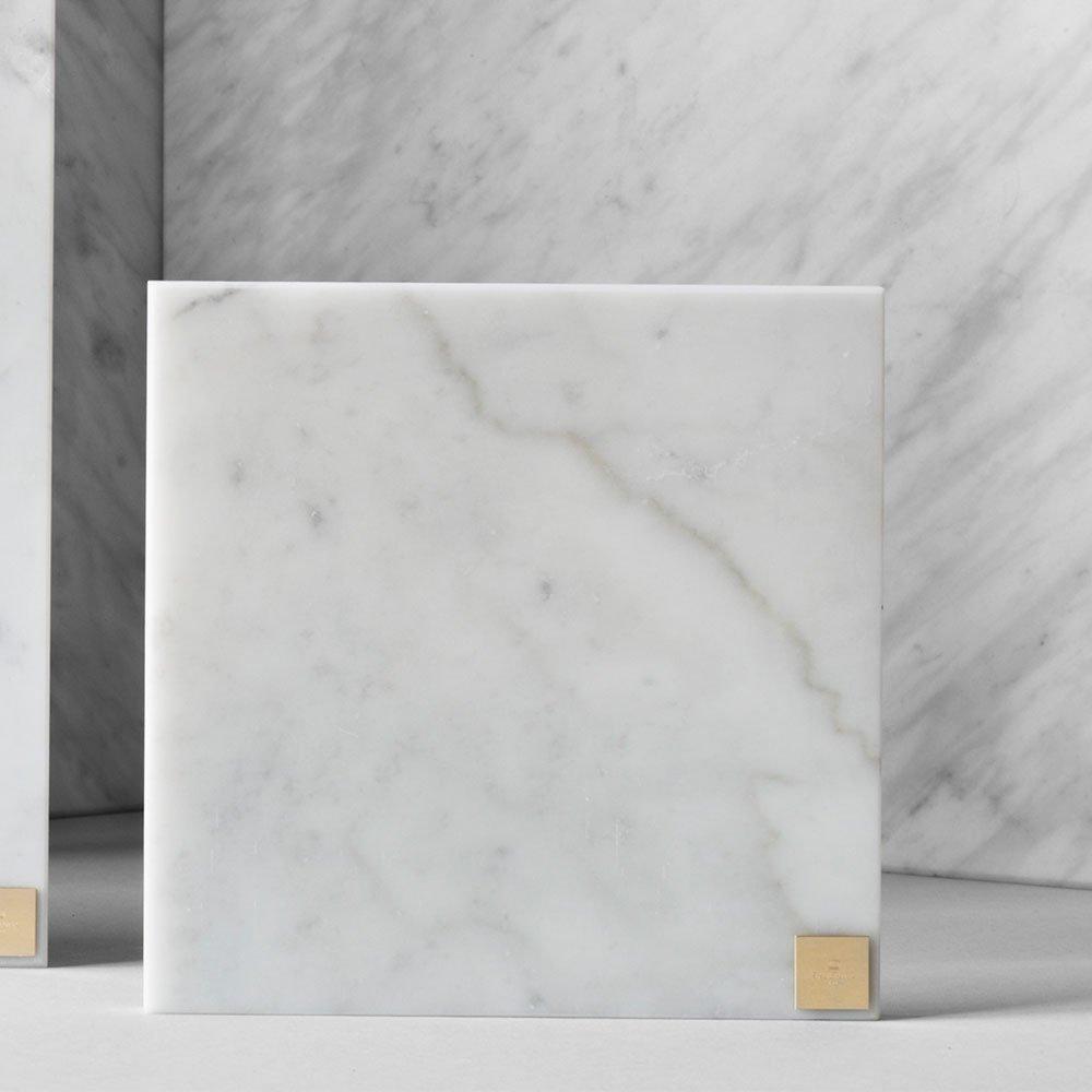 Skultuna Plus 15 x 15 cm, Valkoinen Marmori