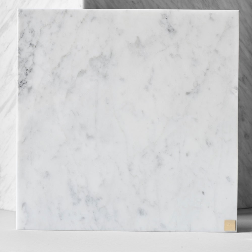 Skultuna Plus 30 x 30 cm, Valkoinen Marmori