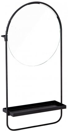 MIrror With Shelf, Black, Bloomingville