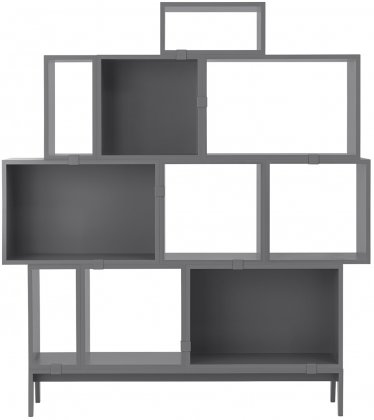 Muuto-Muuto Stacked Shelf Pack, Dark Gray